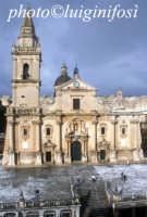 la cattedrale di san giovanni dopo la neve RAGUSA Luigi Nifosì
