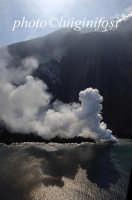 il vulcano stromboli l'1 aprile 2007  - Stromboli (3861 clic)