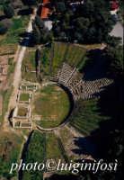 il teatro greco romano di tindari, dal cielo  - Tindari (6613 clic)