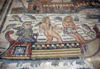 la villa romana del casale: scena degli amorini pescatori  - Piazza armerina (4583 clic)