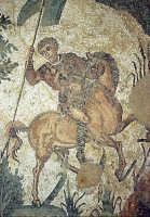 i mosaici della villa romana: scena dalla piccola caccia  - Piazza armerina (4004 clic)