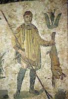 i mosaici della villa romana: scena della piccola caccia  - Piazza armerina (4154 clic)