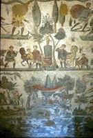 i mosaici della villa romana: scena della piccola caccia  - Piazza armerina (9245 clic)