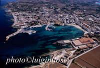 una veduta aerea del centro abitato dell'isola di favignana, a dx del porto la tonnara dei florio oggi destinata a museo  - Favignana (5032 clic)