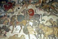 la villa romana del casale: scena della grande caccia  - Piazza armerina (8479 clic)