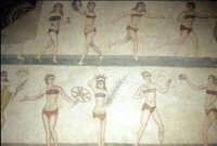 i mosaici della villa romana: le ragazze bikini  - Piazza armerina (4597 clic)