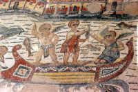 i mosaici della villa romana: gli amorini pescatori  - Piazza armerina (10747 clic)