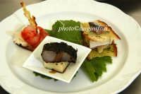 un piatto dello chef Nino Graziano durante cheeseart  - Donnafugata (4281 clic)