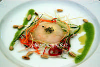 un piatto dello chef Nino Graziano durante cheeseart  - Donnafugata (4146 clic)