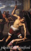 chiesa di S.M. La Nova - il martirio di Sant'Adriano  - Scicli (4430 clic)