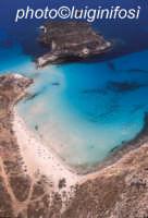 la spiaggia e l'isola dei conigli in una vista aerea  - Lampedusa (4736 clic)