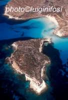 l'isola dei conigli e la spiaggia omonima in una vista aerea  - Lampedusa (3941 clic)