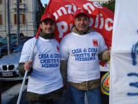 Manifestazione sindacale del 12 Dicembre 2008. (20). Via Cannizzaro.   - Messina (3009 clic)