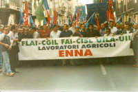 Manifestazione sindacale degli operai forestali del 4 maggio 2005. Foto 4 - Operai forestali della p