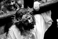 Giovedý santo: processione sacra: Gesù trasporta la Croce  - Marsala (3874 clic)