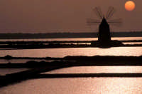 tramonto sulle saline  - Marsala (13404 clic)