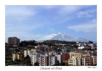 Catania con lo sfondo del vulcano Etna  - Catania (2976 clic)
