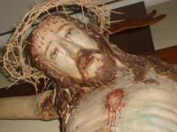 Il volto del Cristo Cocifisso che si trova nella sagrestia della Chiesa Maria SS Annunziata.  - Leonforte (2719 clic)