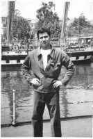 Foto d'epoca, Barcellona con lo sfondo delle caravelle di Colombo  Giuseppe Trigili