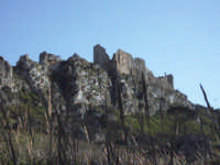 Una veduta delle mura del castello Barresi, da secoli simbolo di Pietraperzia. PIETRAPERZIA Richard