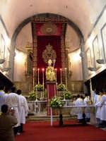 Festa San Nicola (Patrono di Trecastagni) - CT Traslazione del Simulacro del Santo Patrono San Nicola sull'altare maggiore della Chiesa Madre  - Trecastagni (3513 clic)