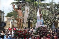 La Santa Pasqua (U 'ncuntru) il cammino della processione verso la chiesa Madre  - Calascibetta (4978 clic)
