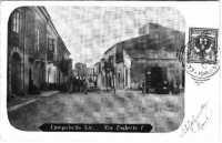 Via Umberto I - Cartolina Illustrata del 1903 da me donata al Circolo Leonardo da Vinci  - Campobello di licata (7765 clic)