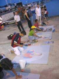 Expo 2005 - I Giovani Madonnari di Campobello di Licata  - San leone (6776 clic)