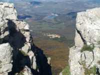 Rocca Busambra... Ficuzza e lago Scanzano, fotografati da Rocca Busambra . . .  - Ficuzza (6932 clic)
