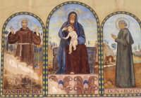 Dipinto murario chiesa di Santa Rosalia, cappella di famiglia, Villa Tedeschi.  - Pozzallo (6671 clic)