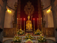 Arcipretura Chiesa Madre San Nicola sec.XV - Interno Altare Maggiore con San Nicola  - Trecastagni (2533 clic)