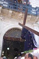 Cristo crocifero all'ingresso del palazzo La Lumia, Venerabile confraternita della Misericordia.   - Licata (1892 clic)