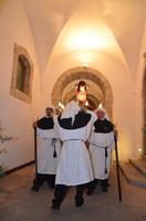 Simulacro del Cristo alla colonna all'ingresso del chiostro di San Francesco, Venerabile Confraternita della Carità.   - Licata (1927 clic)