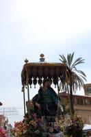 Madonna addolorata di Sant'Agostino in processione.    - Licata (1948 clic)