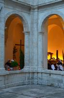 Simulacro del Cristo alla colonna esposto al chiostro di San Francesco, Venerabile Confraternita della Carità.   - Licata (2052 clic)