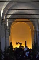 Simulacro del Cristo alla colonna esposto al chiostro di San Francesco, Venerabile Confraternita della Carità.   - Licata (1921 clic)