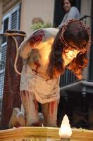 Simulacro del Cristo alla colonna in processione, Venerabile Confraternita della Carità.   - Licata (2053 clic)