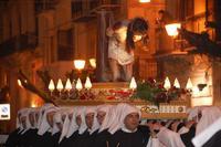 Simulacro del Cristo alla colonna in processione, Venerabile Confraternita della Carità.   - Licata (1926 clic)