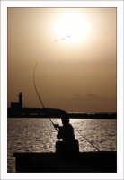 Silhouette di pescatore  - Trapani (2012 clic)