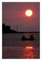 Pescatori al tramonto  - Trapani (1928 clic)