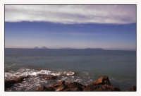 Veduta delle Eolie dalla spiaggia di Brolo  - Brolo (6205 clic)