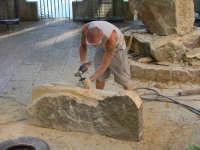 Arte in Piazza, scultori all'opera. 27 Luglio 2008  - San mauro castelverde (1500 clic)
