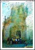 uscita San francesco di paola dalla chiesa di santa maria maddalena.  domenica 3 agosto 2008  - Buccheri (5594 clic)