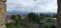 Castello di Lombardia - I giardini del castello (Parco Robinson), visti dai merli della Torre Pisan