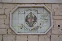 Pannello in ceramica - Stemma della città - incrocio Molona CALTAGIRONE GIUSEPPE RANNO
