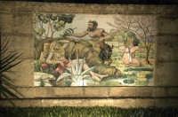 Villa comunale ingresso sud pannello in ceramica - notturno CALTAGIRONE GIUSEPPE RANNO