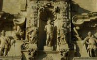 Particolare della facciata della chiesa di S.Sebastiano  - Ferla (2184 clic)