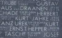Lapide cimitero militare tedesco  - Motta sant'anastasia (6457 clic)