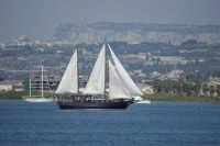 Ortigia porto con veliero  - Siracusa (5970 clic)