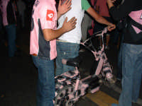 Palermo in A-29/05/2004:Motorino rosanero alla festa di Piazza Politeama PALERMO Paolo Naselli